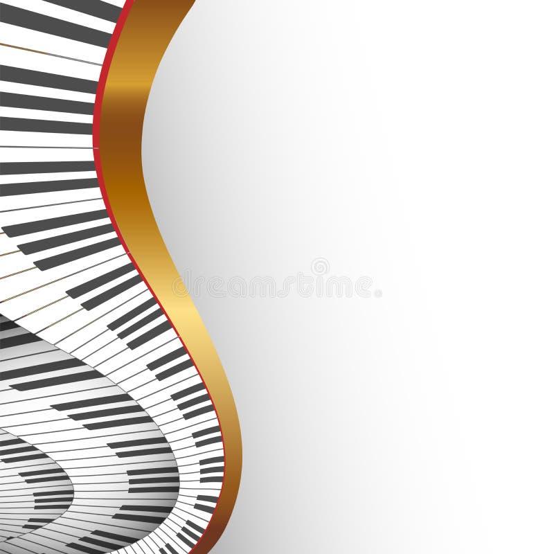 Fondo musical abstracto stock de ilustración