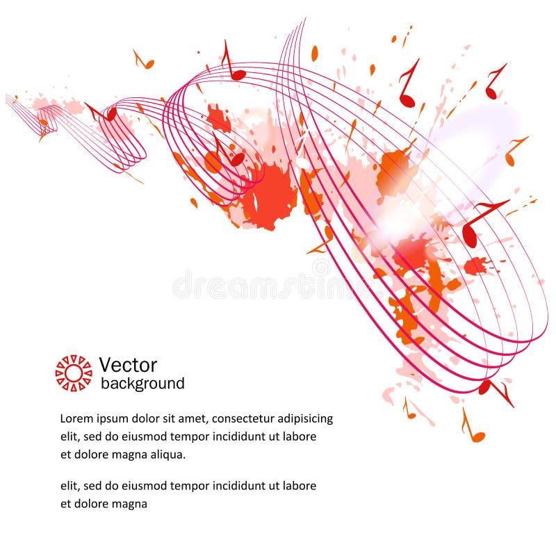 Fondo musical abstracto ilustración del vector