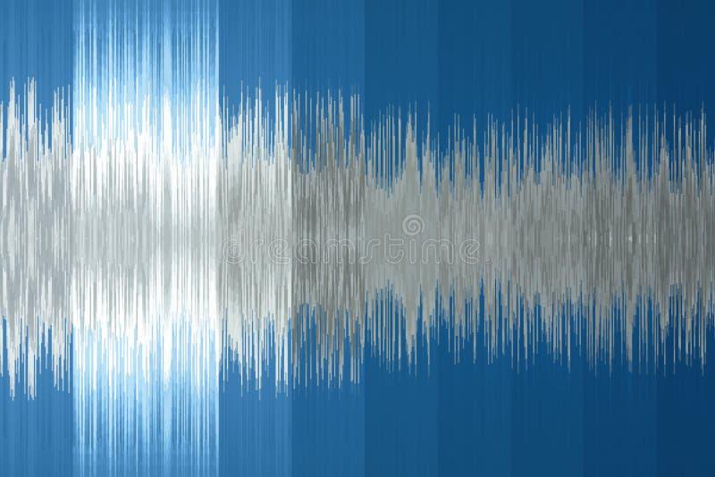fondo musical bajo la forma de onda acústica Color azul fotografía de archivo