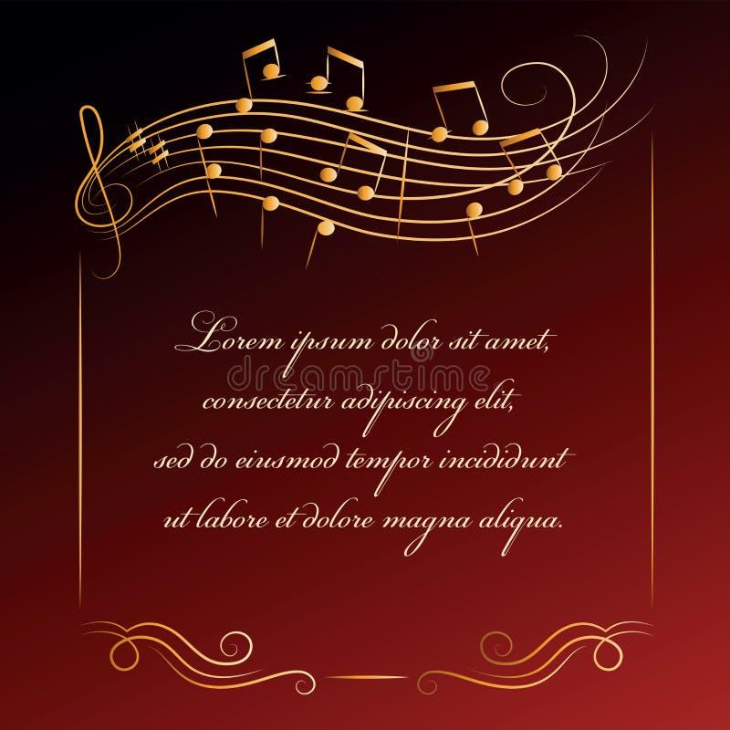 Fondo musical Capítulo con las notas libre illustration