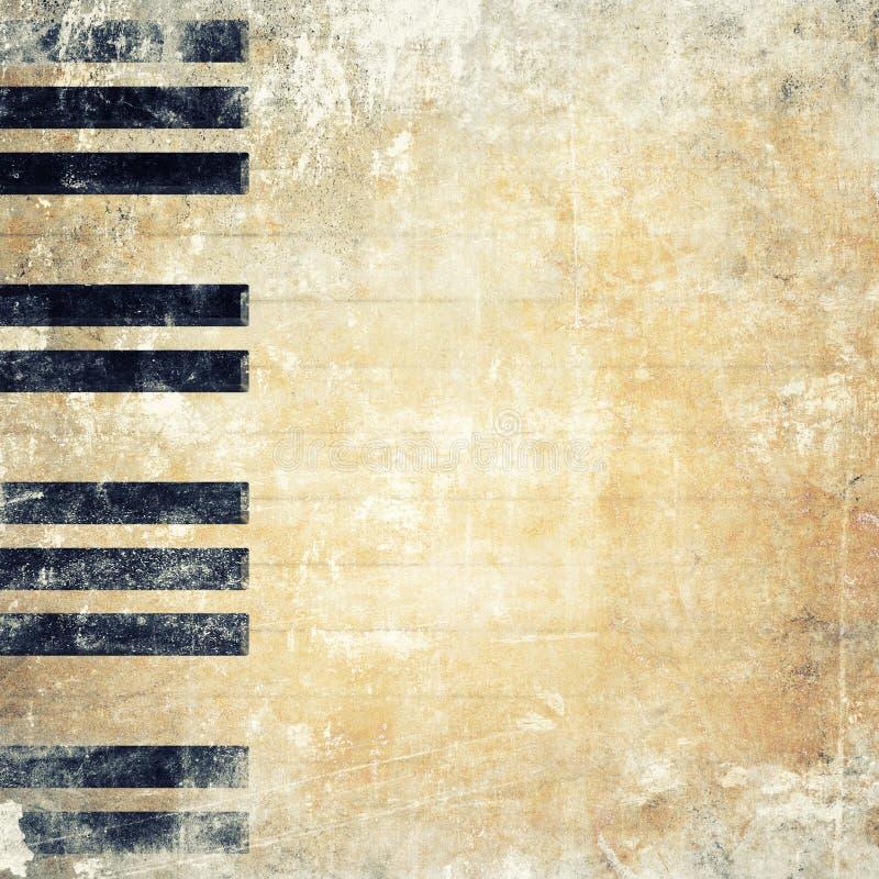 Fondo musical del grunge imagen de archivo libre de regalías