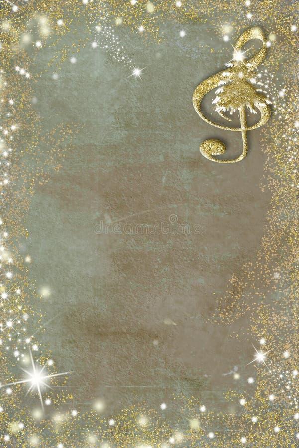 Fondo musical del grunge del cartel de la Navidad, imagen vertical stock de ilustración