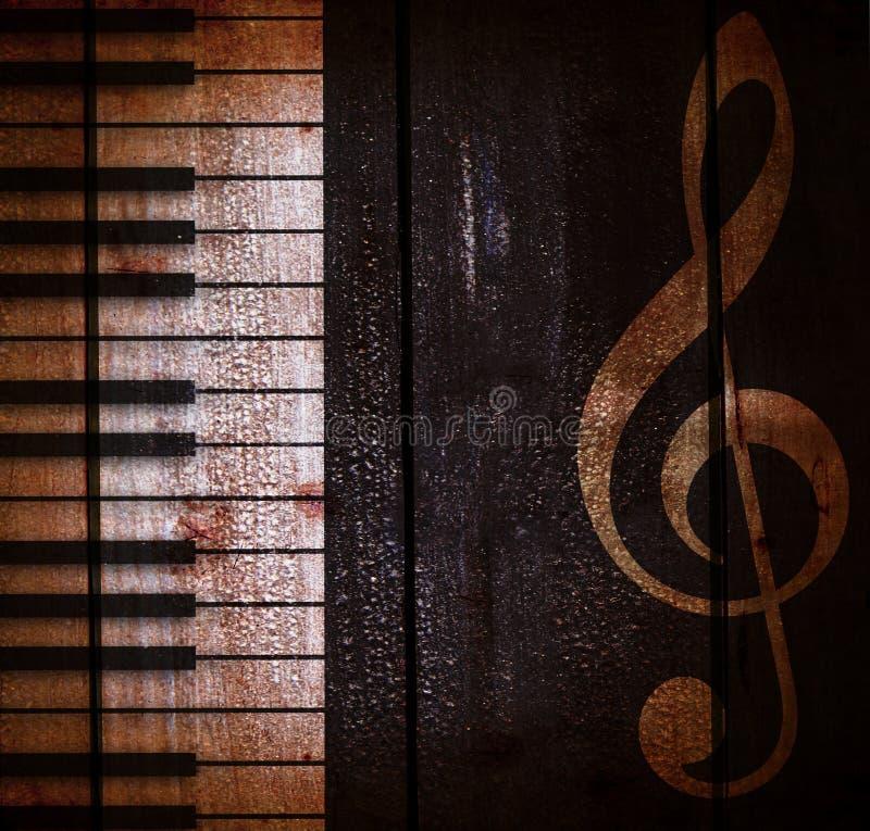 Fondo musical oscuro del Grunge foto de archivo libre de regalías