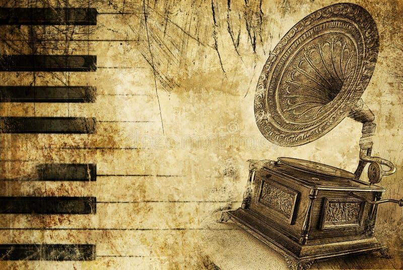 Fondo musical sucio ilustración del vector