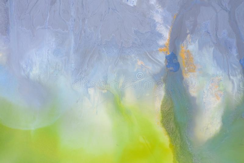 Fondo natural aéreo de la contaminación de la naturaleza con el cianuro fotografía de archivo