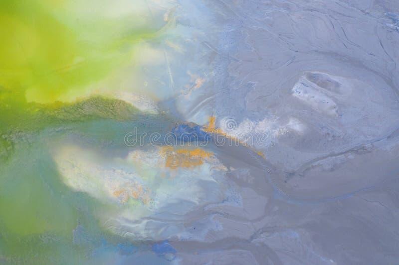 Fondo natural aéreo de la contaminación de la naturaleza con el cianuro fotos de archivo libres de regalías