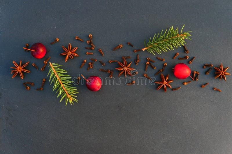 Fondo natural de la decoración de la Navidad fotos de archivo libres de regalías