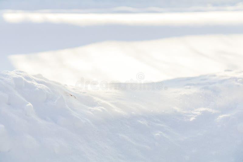 Fondo natural del blanco de la textura de la nieve imágenes de archivo libres de regalías