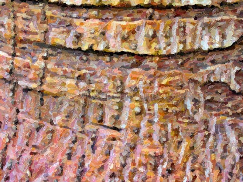 Fondo naturale astratto di stile della pittura a olio di colore fotografie stock