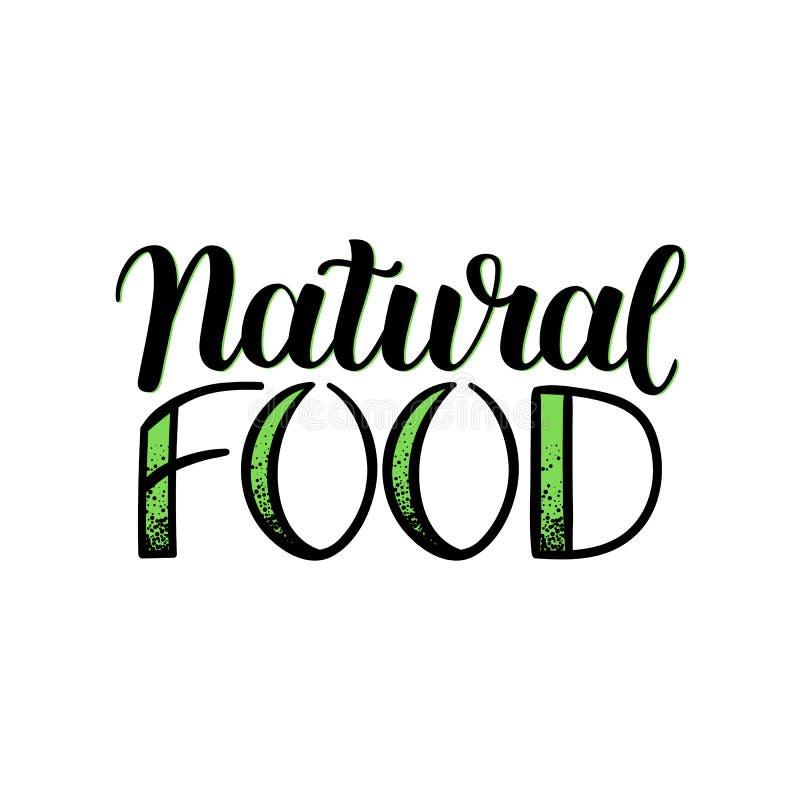 Fondo naturale del menu dell'alimento di Eco Illustrazione disegnata a mano di vettore di schizzo Iscrizione scritta mano isolata illustrazione vettoriale