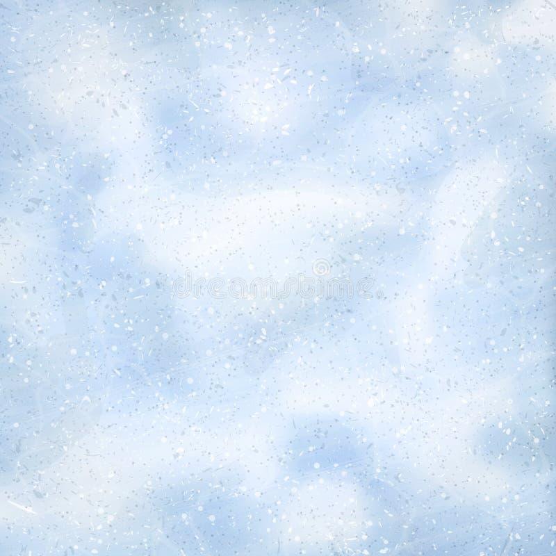 Fondo naturale di inverno con le derive della neve e la neve di caduta Vista ambientale Struttura della superficie della neve Fio royalty illustrazione gratis