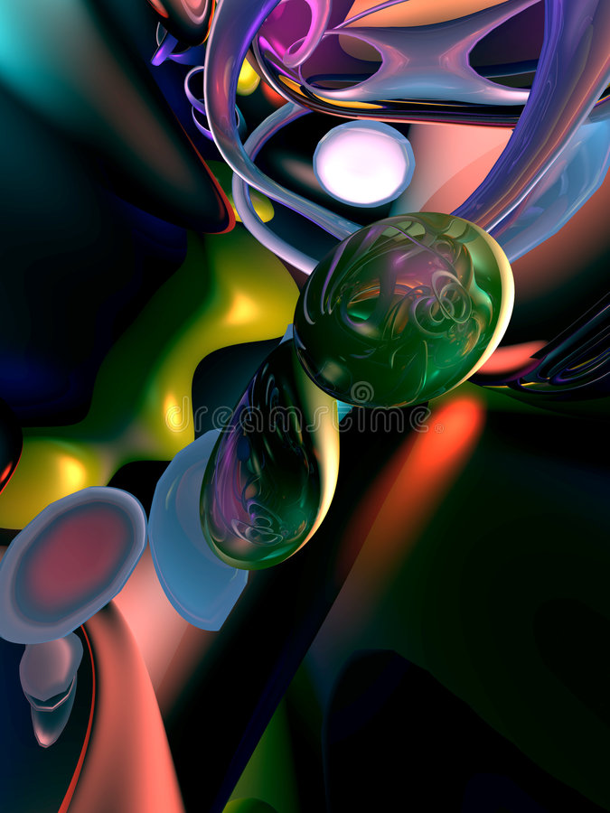 Fondo negro abstracto colorido stock de ilustración