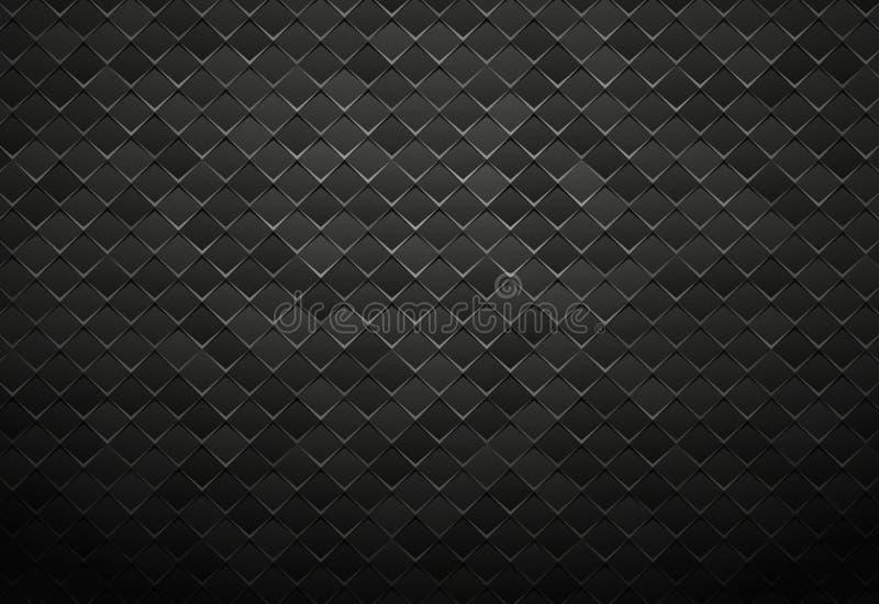 Fondo negro abstracto de la teja del metal ilustración del vector