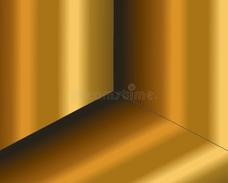 Fondo negro abstracto texturizado con el modelo de semitono de oro radial Ilustraci?n del vector Elemento de la decoraci?n con se libre illustration
