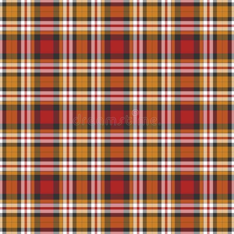Fondo negro, amarillo, rojo y blanco de la tela escocesa libre illustration