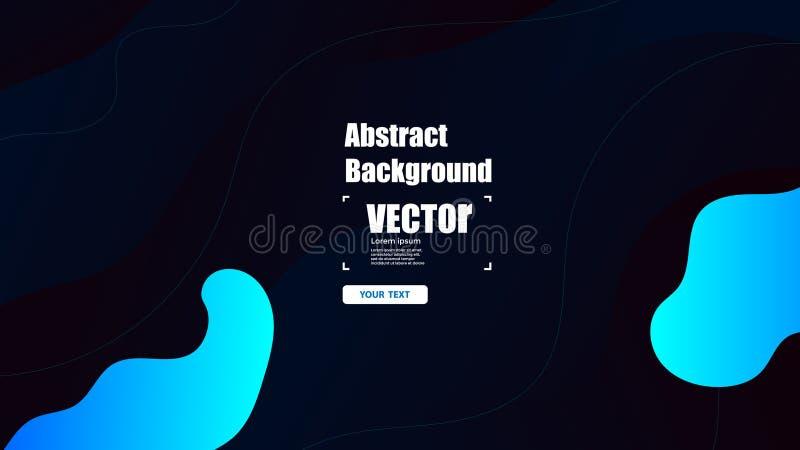 Fondo negro azul de la plantilla de la bandera de la venta de las ondas Ilustración colorida del vector ilustración del vector