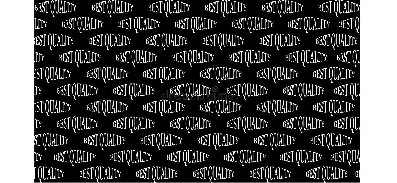 Fondo negro con la mejor calidad de la inscripción blanca - ejemplo del vector libre illustration