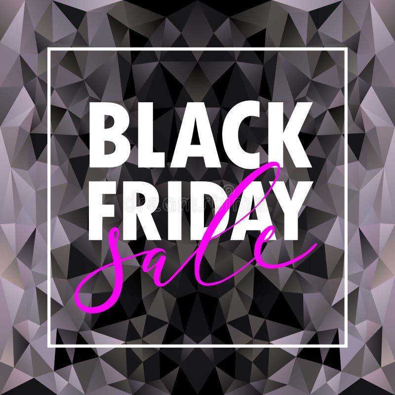 Fondo negro de la disposición de la venta de viernes Vector el ejemplo, diseño de la plantilla, lista, página, estilo del folleto stock de ilustración