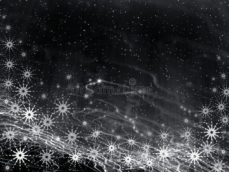Fondo negro de la Navidad stock de ilustración