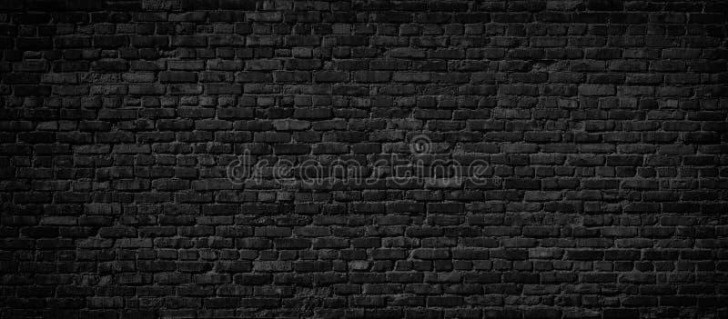 Fondo negro de la pared de ladrillo imágenes de archivo libres de regalías