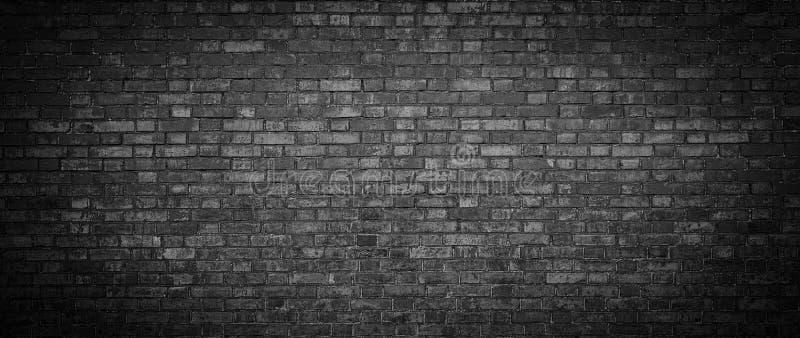 Fondo negro de la pared de ladrillo imagen de archivo