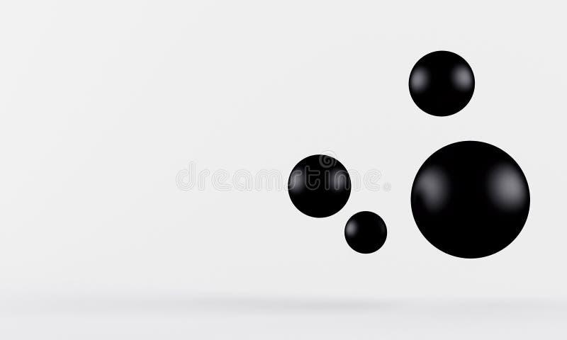 Fondo negro de la perla del shpere 3d rinden libre illustration