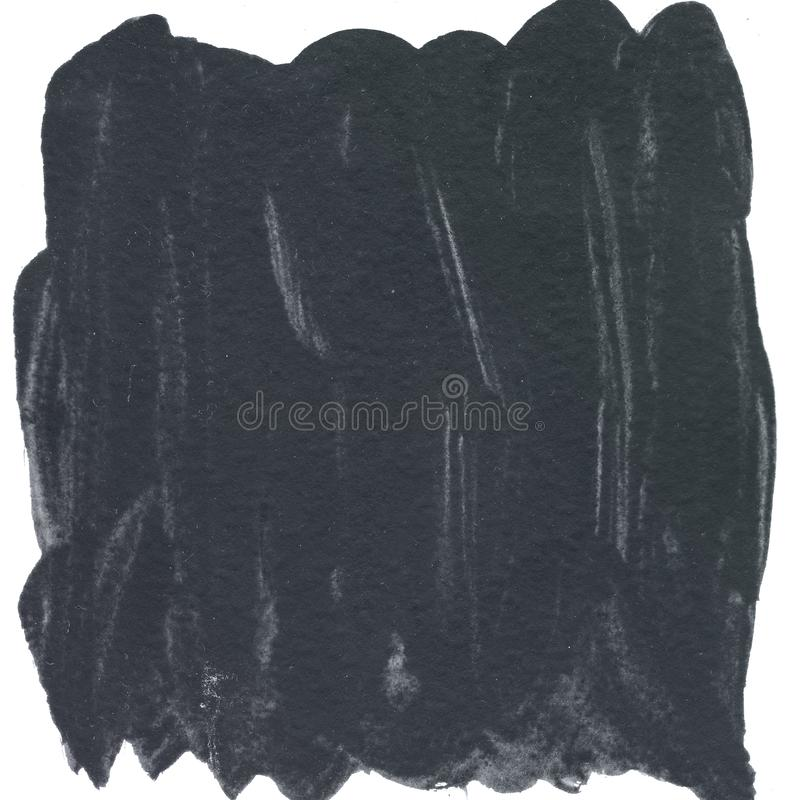Fondo negro de la pintura de la acuarela de la textura del cepillo, poniendo letras a bosquejo del libro de recuerdos ilustración del vector