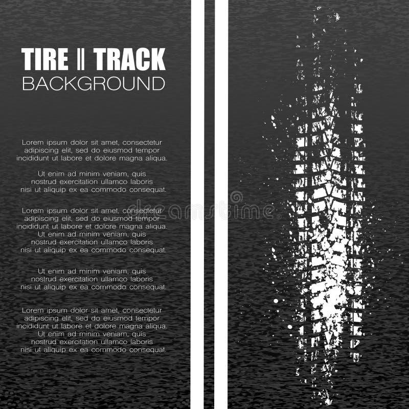 Fondo negro de la pista del neumático del asfalto libre illustration