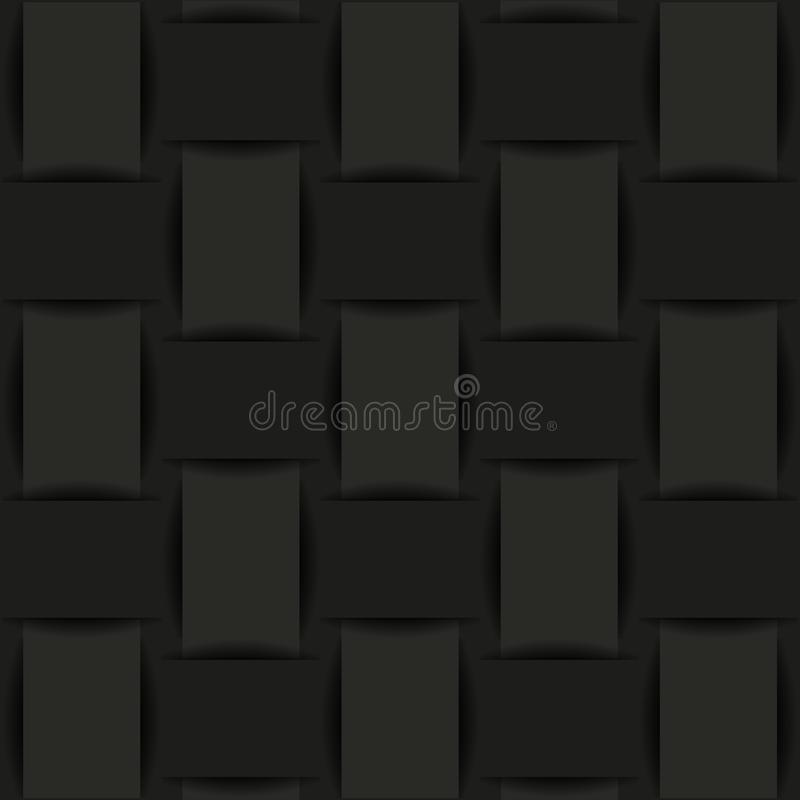 Fondo negro de la tela tejida o del papel libre illustration