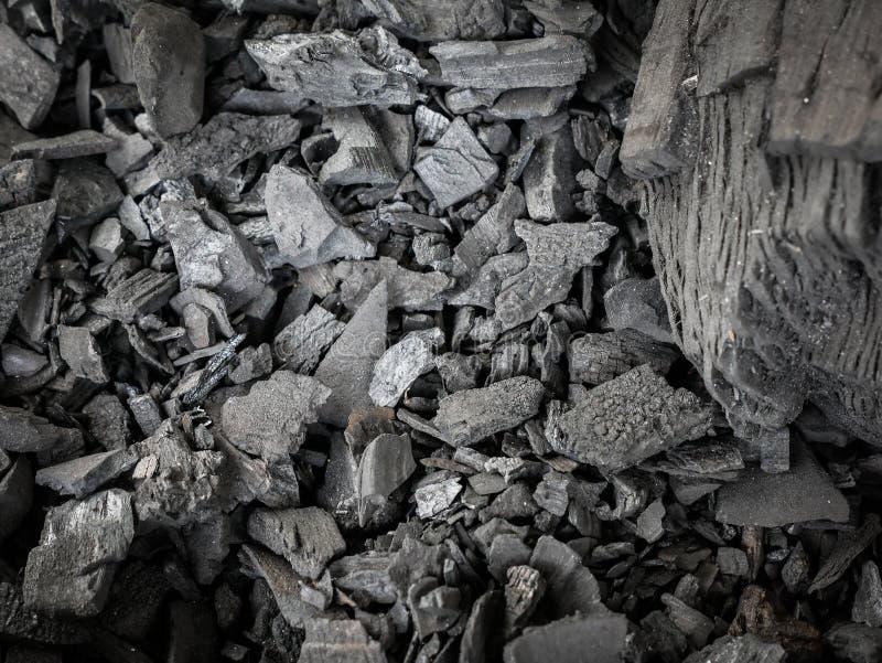 Fondo negro de la textura del carbón de leña fotografía de archivo libre de regalías