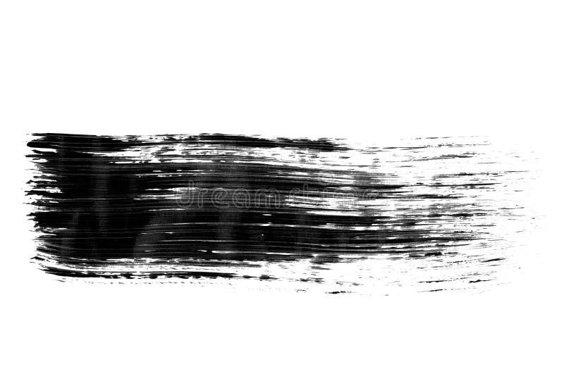 Fondo negro de la tinta pintado por el cepillo imágenes de archivo libres de regalías