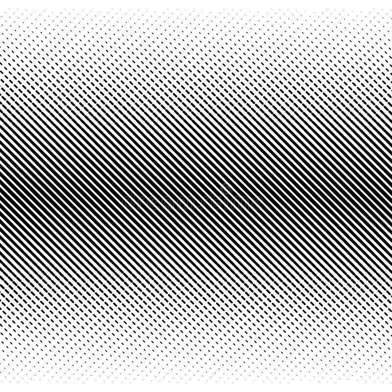 Fondo negro de semitono abstracto del vector Diseño retro del modelo de la pendiente Gráfico monocromático stock de ilustración