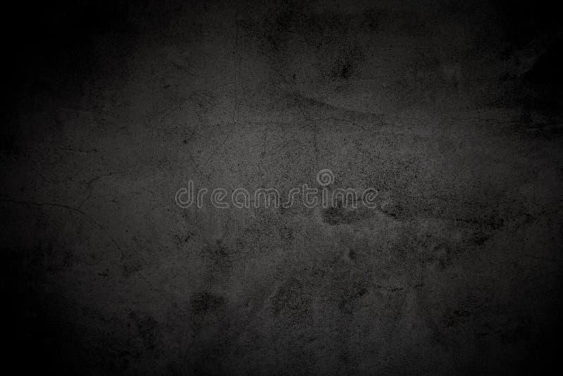 Fondo negro de textura de pared de hormigón bruto Superficie de hormigón pulido imagen de archivo libre de regalías
