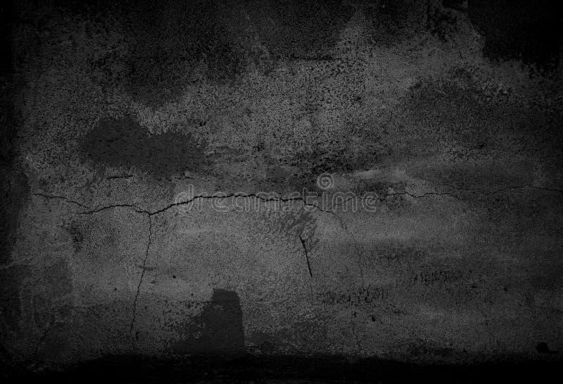 Fondo negro del extracto del cemento imagen de archivo
