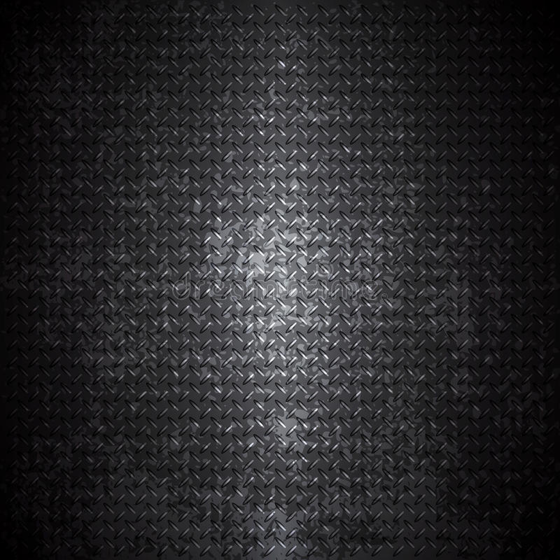 Fondo negro del grunge del metal ilustración del vector