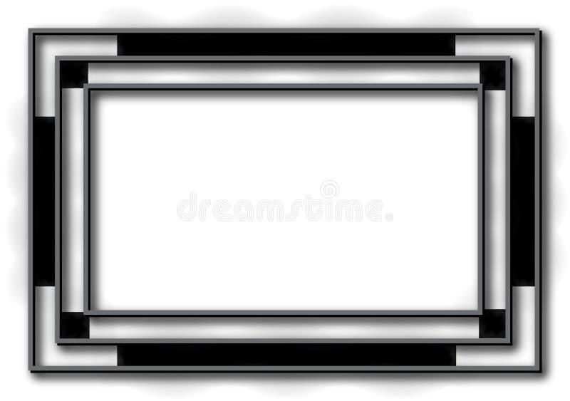 Fondo negro del marco del art déco ilustración del vector