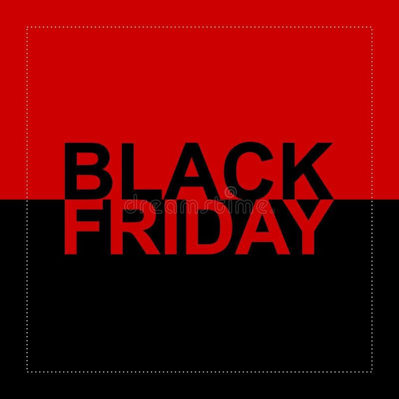 Fondo negro 12 del vector de la venta de viernes libre illustration