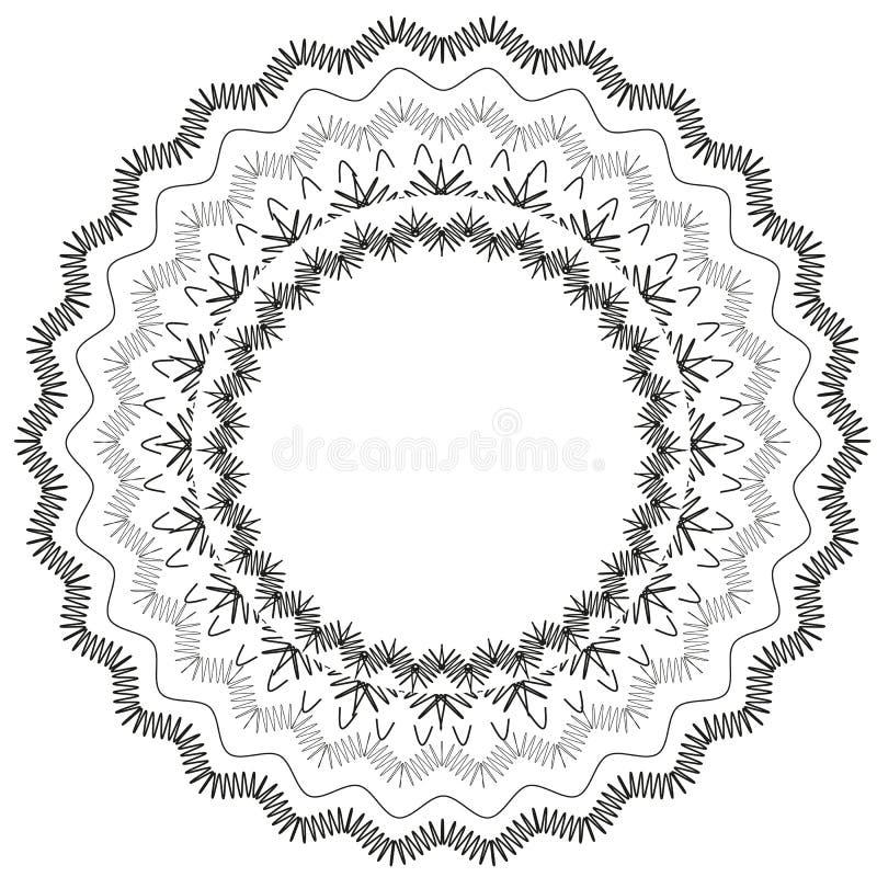 Fondo negro del vector del círculo del cordón stock de ilustración