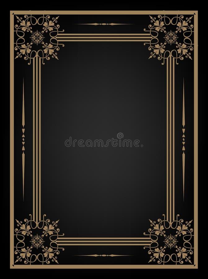 Fondo negro del vintage stock de ilustración