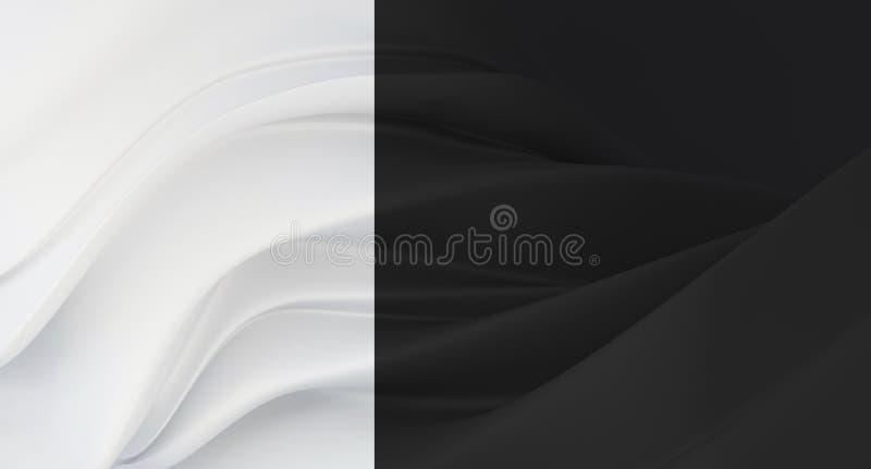 Fondo negro elegante, de lujo con el segmento blanco Fondo costoso para la tarjeta de visita Fondo para los cosméticos o la joyer stock de ilustración