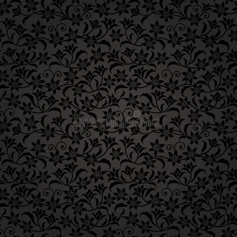 Fondo negro floral libre illustration