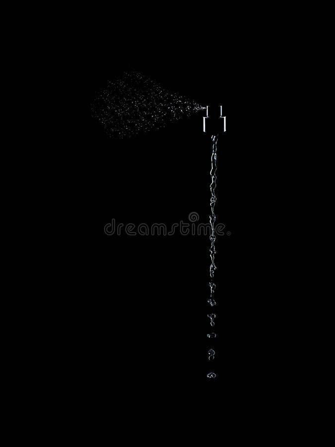 Fondo negro fresco del movimiento de la acción del agua del chapoteo del espray del ambientador de aire fotos de archivo