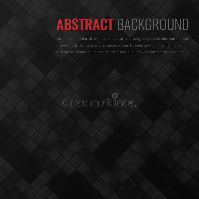 Fondo negro Plantilla geométrica abstracta para el negocio Textura del fondo con el cuadrado y el triángulo Vector libre illustration