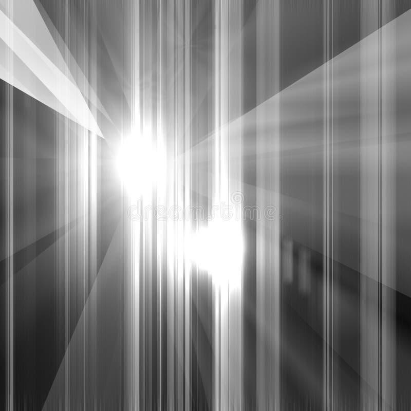 Fondo negro que brilla ilustración del vector