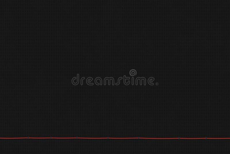 Fondo negro texturizado Concepto mínimo Ejemplo plano de la endecha 3D stock de ilustración
