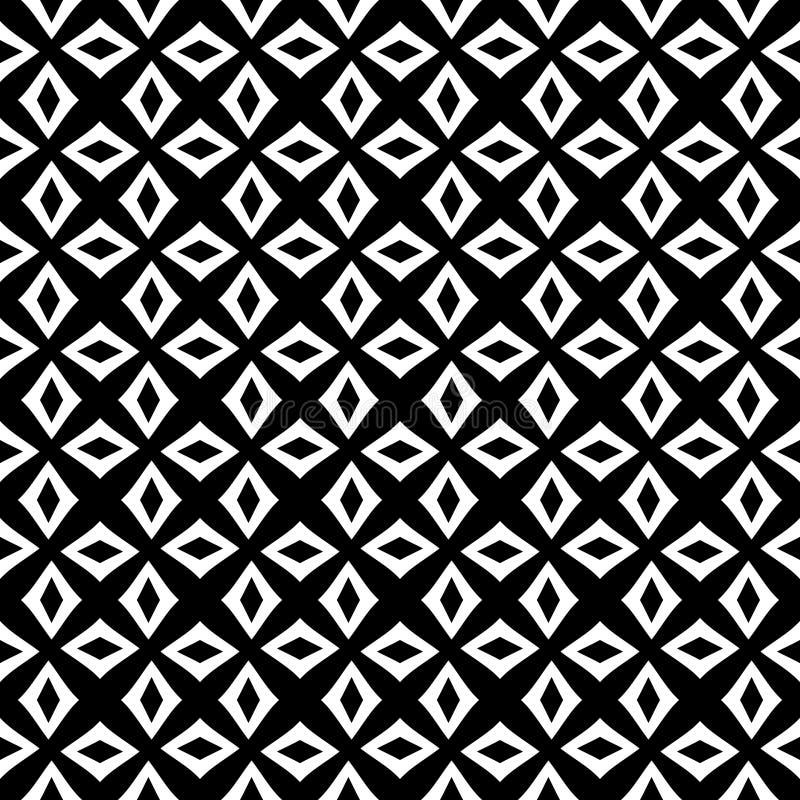 Fondo negro y blanco geométrico floral inconsútil decorativo del modelo Flores, geometría libre illustration