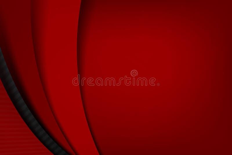Fondo negro y rojo oscuro de Chrome del overlape y de la sombra del elemento libre illustration
