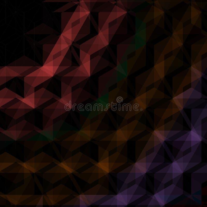 Fondo nero astratto dei triangoli illustrazione di stock