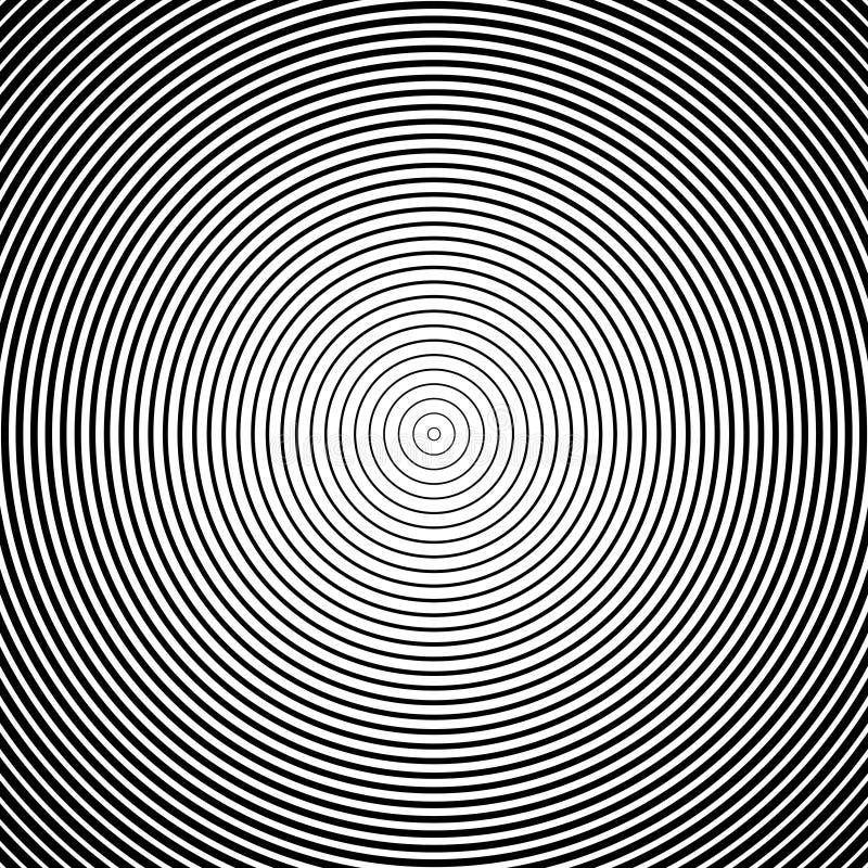 Fondo nero astratto del cerchio Vettore illustrazione vettoriale