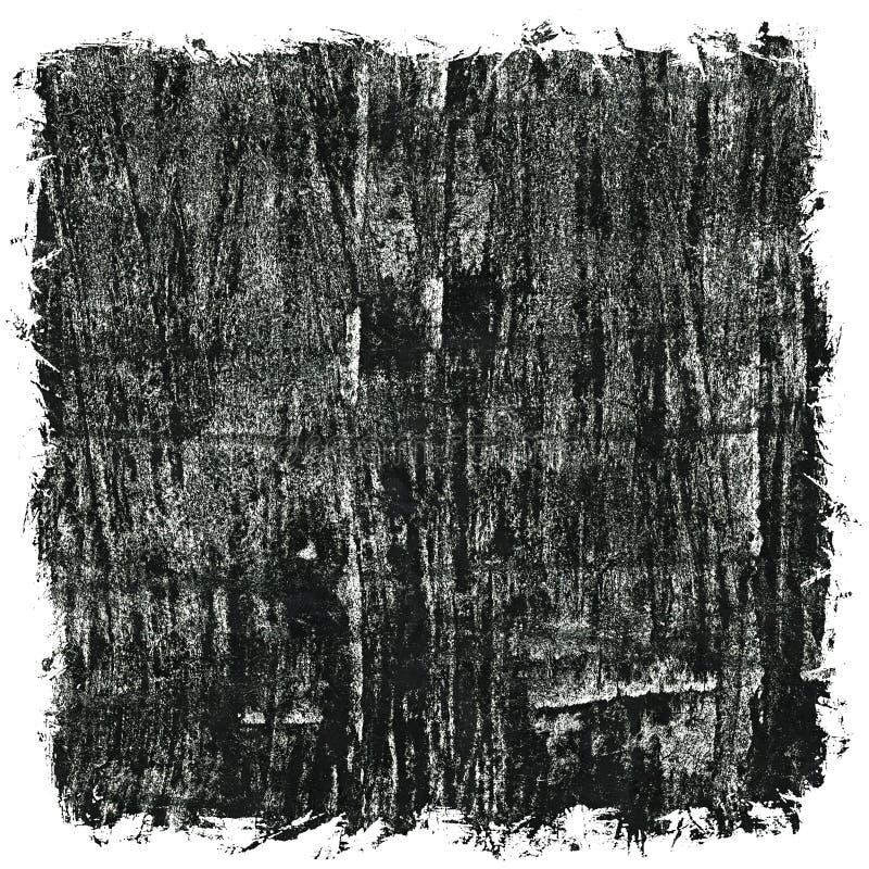 Fondo nero astratto dell'acquerello di lerciume illustrazione vettoriale